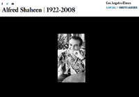Alfred Shaheen - LA Times Photo Montage